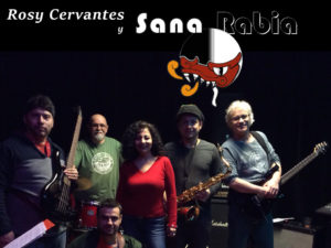 Photo of Rosy Cervantes y La Sana Rabia 2016, with logo