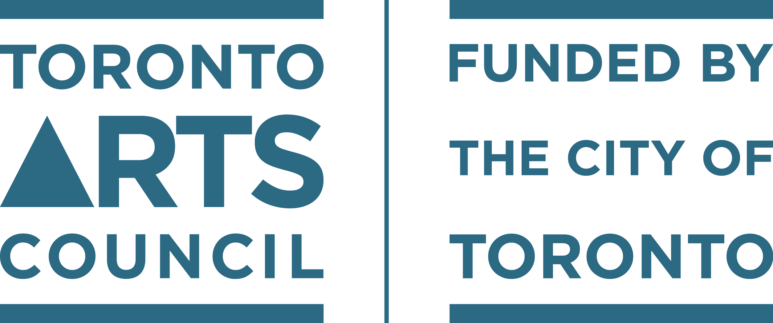 Toronto Arts Council (logo) Funded by the City of Toronto