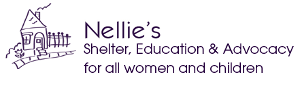 Nellie's Shelter, Education and Advocacy for all women and children (logo)